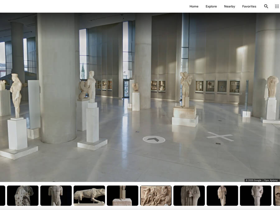 Virtual tour of the Acropolis Museum