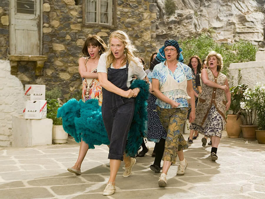 Meryl Streep, Christine Baranski and Julie Walters in Mamma Mia!