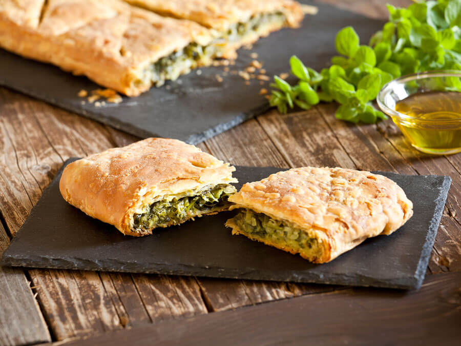 Spinach pie with Greek feta